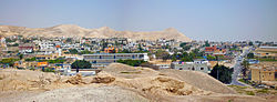 The city of Jericho from the ruins of the old walls