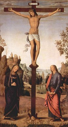 A depiction of Jesus on the cross