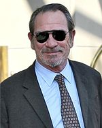 Photo of Tommy Lee Jones at the 2007 Toronto International Film Festival.