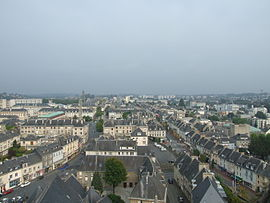A view of Saint-Lô from the fr (Église Notre-Dame de Saint-Lô; Notre-Dame church)