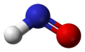 Ball and stick model of nitroxyl