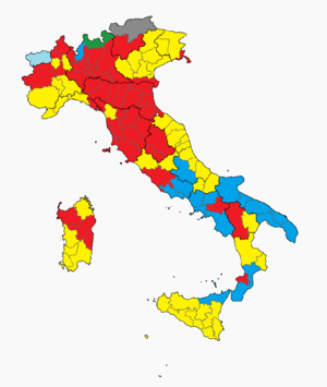 Province of Italy, election 2013.png