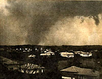 threatening old photo of tornado