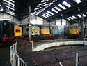 Barrow Hill Locomotives in Roundhouse.jpg