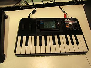 A MIDI controller for use with an iPhone