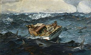 Winslow Homer, The Gulf Stream (1899). Oil on canvas; 71.5 x 124.8 cm. Metropolitan Museum of Art.