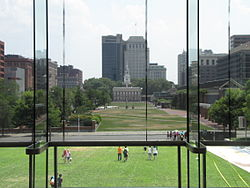 Independence Mall in 2012, looking south from the National Constitution Center.