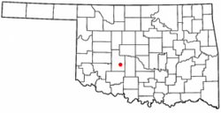 Location of Anadarko, Oklahoma