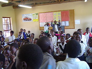 A classroom in South Africa, taken from the Wiki Commons.