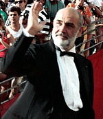 Photo of Sean Connery attending the 60th Academy Awards in 1988.
