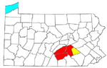 Map of the Harrisburg metropolitan area