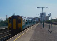 Arriva Trains Wales refurbished 150258 at Cardiff Queen Street