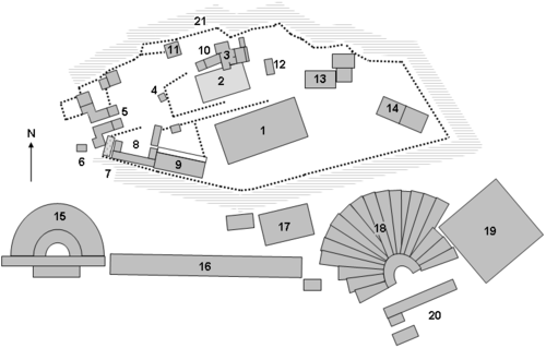 Site plan of the Acropolis at Athens
