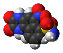 Space-filling model of the NBQX molecule