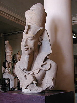 Statue of Akhenaten in the early Amarna style.