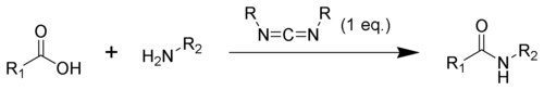 Amide coupling utilizing a carbodiimide