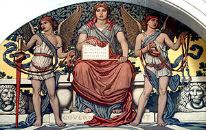 "Detail from the mural ""Government"" by Elihu Vedder in the Library of Congress"