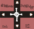 Flag used from 1811-1812 by Regimiento de la muerte (Death Regiment) after Hidalgo's death in the Independence War