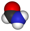 Space-filling model of the formamide molecule
