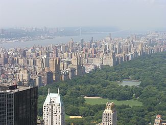 The Upper West Side, from the Rockefeller Center Observatory.