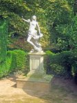 Pedestal with statue of Andromeda in Melbourne Hall gardens