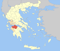 Achaea within Greece