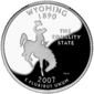Wyoming quarter dollar coin