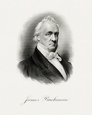 BEP engraved portrait of Buchanan as President.