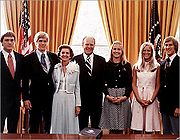 Gerald Ford family in the Oval Office in 1974.jpg