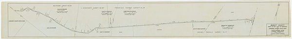 A blue-grey map of a road, covered with assorted lines