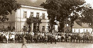 Cavalry parade in Sejny