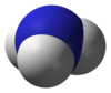 Space-filling model of the ammonia molecule
