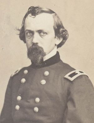 Black and white image of Stone as a general in his Union Army uniform