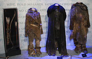 The costumes of Ygritte, Jon Snow and Tormund Giantsbane