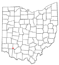 Location of Blanchester, Ohio