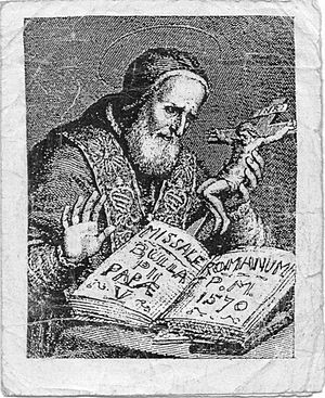 St Pope Pius V.. From the earlist Missal ..jpg