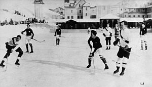 A young Lester Pearson waiting for a pass in an outdoor game
