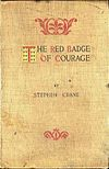 The cover of the first edition of The Red Badge of Courage
