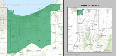 Indiana's 1st congressional district - since January 3, 2013.