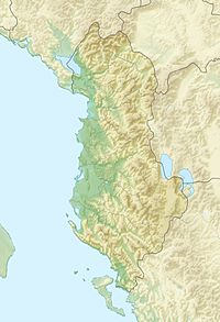approximate location of the battle is located in Albania