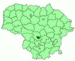 Location of Kaunas