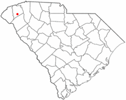 Location of Liberty, South Carolina