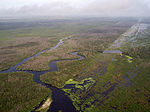 Kissimmee River restoration from the air