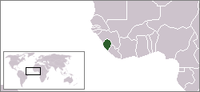 Map of West Africa with Sierra Leone highlighted