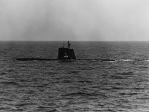 USS Cutlass (SS-478) underway on 9 May 1962