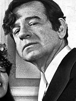 Black-and=white photo of Walter Matthau in a photo for the 1972 film A New Leaf.