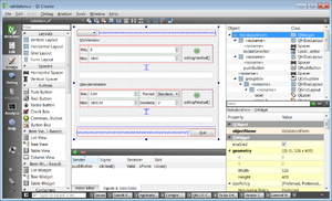 Qt Creator 3.1.1 editing a sample UI file from Qt 5.3 using Designer.png