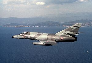 Aeronavale Super Etendard in flight in 1988.JPEG