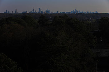Midtown and Downtown Atlanta as seen from Vinings, Cobb County350pxCumberland Area skylineThe Perimeter Center skyline