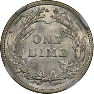 1914 Barber Dime NGC MS64plus Reverse.png